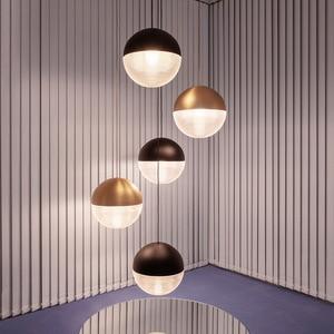 Modern Pendant Lights Led Glass Ball Bedroom Bedside Nordic Hanging Lighting Fixture Gold Minimalist Suspension Dining Bar Lamp