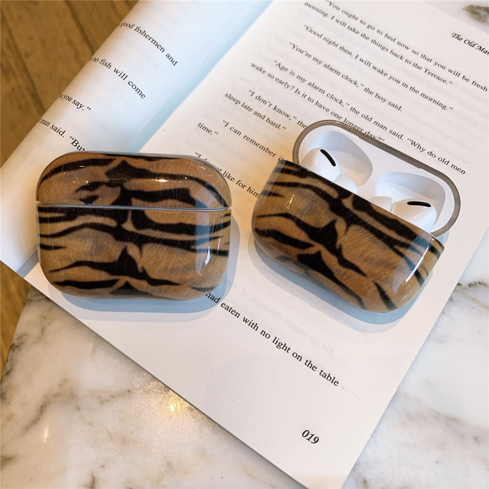 Tiger Skin Texture Hard Shell Protection Case for Apple Airpods Pro Earpods Case for Apple Airpods 3/pro Wireless Earphone Cover enlarge