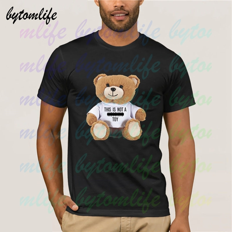Moschio Bear T Shirt Summer Print Black New T Shirt Clothes Popular Shirt Cotton Tees Amazing Short Sleeve Unique Men Tops