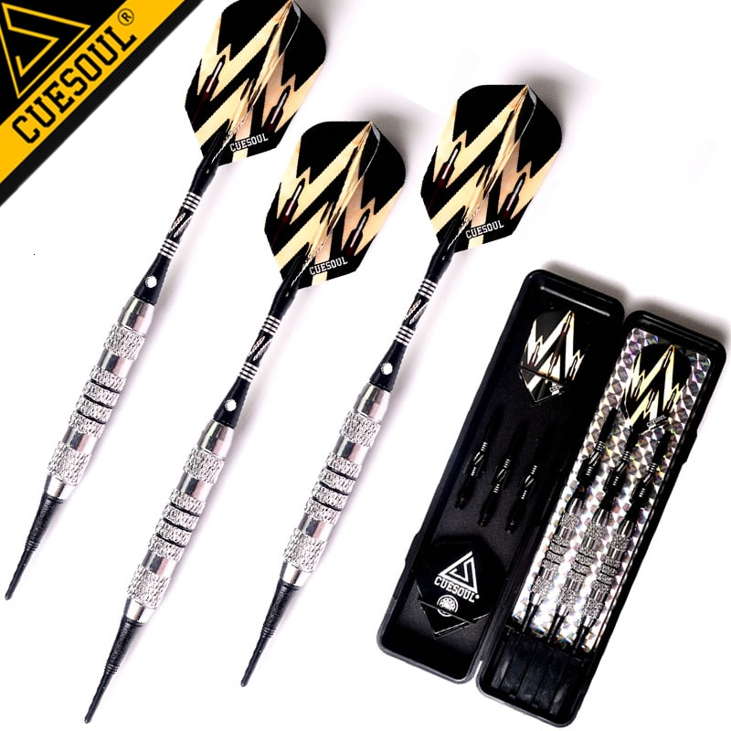New CUESOUL 3pcs/set Professional Darts Soft Darts 16.5g 15cm Electronic Soft Tip Dart With Copper Aluminum Shaft