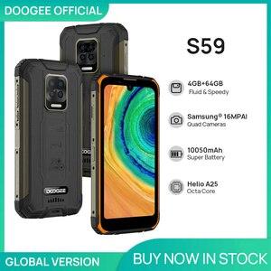 Смартфон DOOGEE S59 защищенный, 10050 мАч, 4 + 64 ГБ, IP68/IP69K, 2 Вт