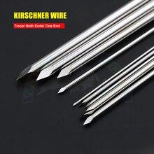 10 pces ortopédico kirschner wire cirurgia veterinária k-wire pinos trocar ambas as extremidades ferramentas veterinárias