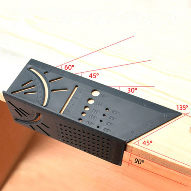 Multifunctional Angle Ruler 45 90 Degree Plastic Accurate Woodworking Square Angle Ruler Marking Gauge Carpenter Tool angle square broadside knife shaped 90 degree angle blade ruler gauge blade measuring tool