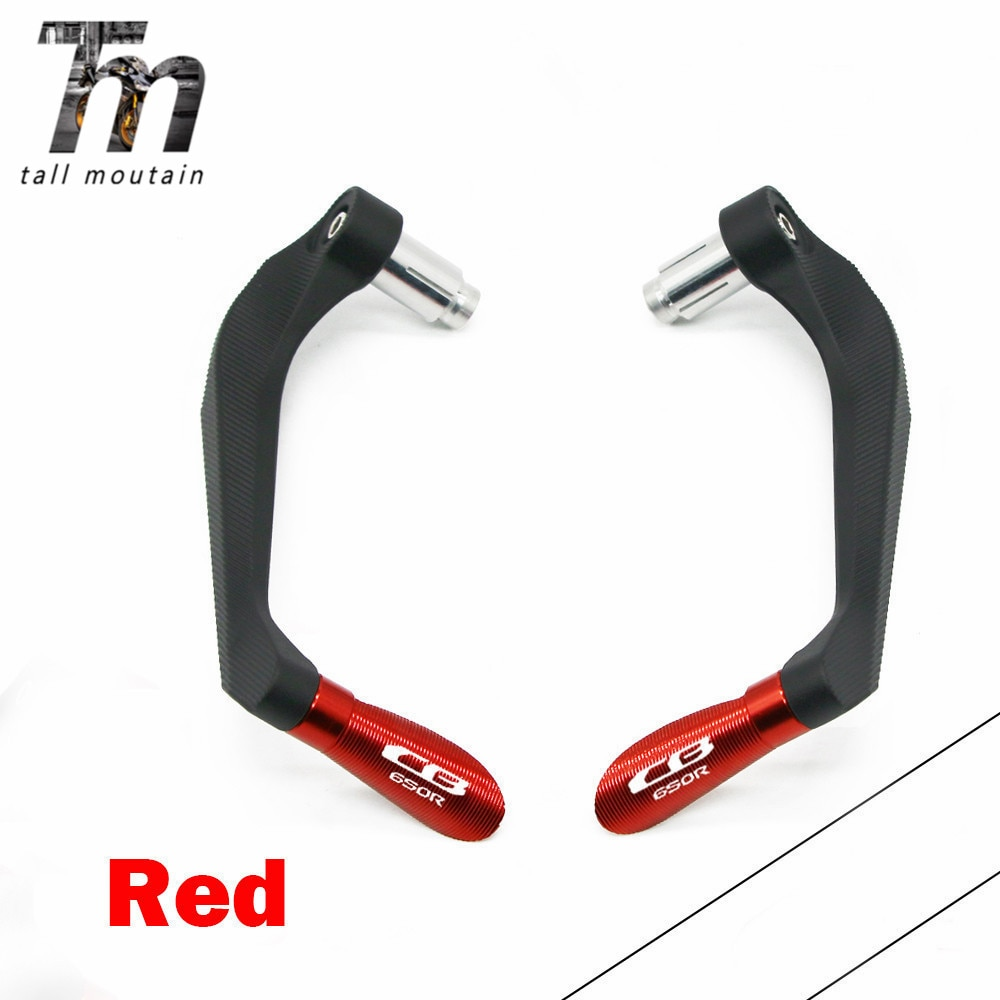 motorcycle 7 8 22mm lever guard handlebar grips guard brake clutch levers protector moto accessories for honda cb400 1992 1998 For Honda CB650R CB 650R CB650 R CB 650 R Motorcycle Accessories 7/822mm Handlebar Grips Brake Clutch Levers Guard Protector