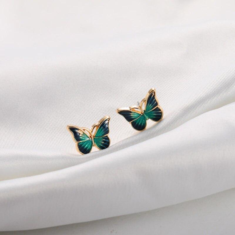 Brincos de borboleta doce pequenos frescos super sensen pequenos para mulheres por atacado