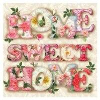 Sweet Home 5D BRICOLAGE Perceuse Diamant Peinture Point De Croix Kit Decor Broderie