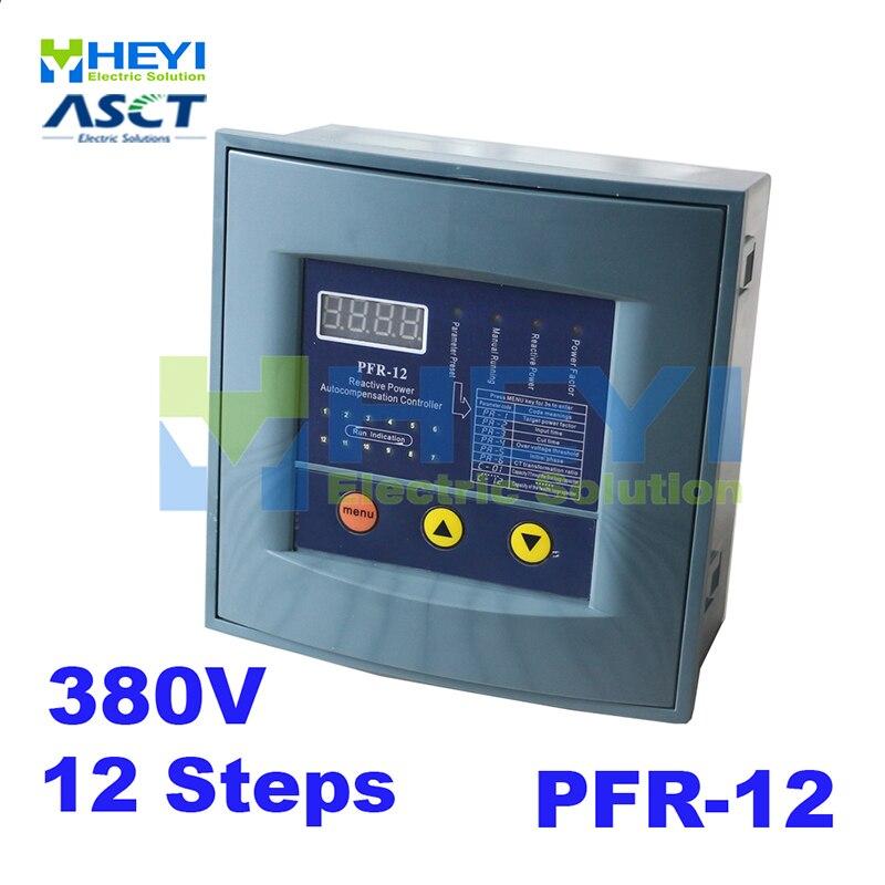 JKW58 PFR-12 قوة رد الفعل المعوض تحكم ل الطاقة عامل مكثف 12 خطوة 380v تعويض قوة رد الفعل تحكم