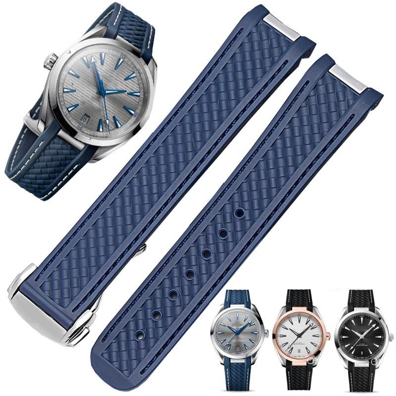 Correa DE silicona suave para reloj, accesorios para pulsera DE reloj, para...