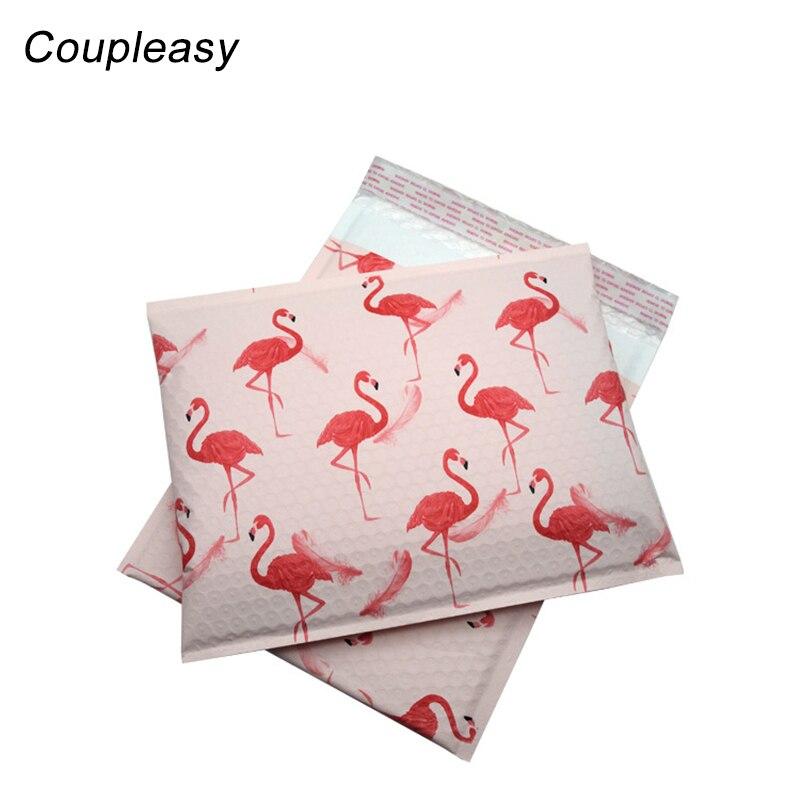 15Pcs/Lot Large Clothes Packaging Bag Flamingo Plastic Bubble Mailers Self Adhesive Bubble Envelopes Bag Shipping Bags 26x32cm