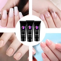 15ml nail extension gel set durable beautiful crystal acrylic gel manicure suit double ended nail polish brush