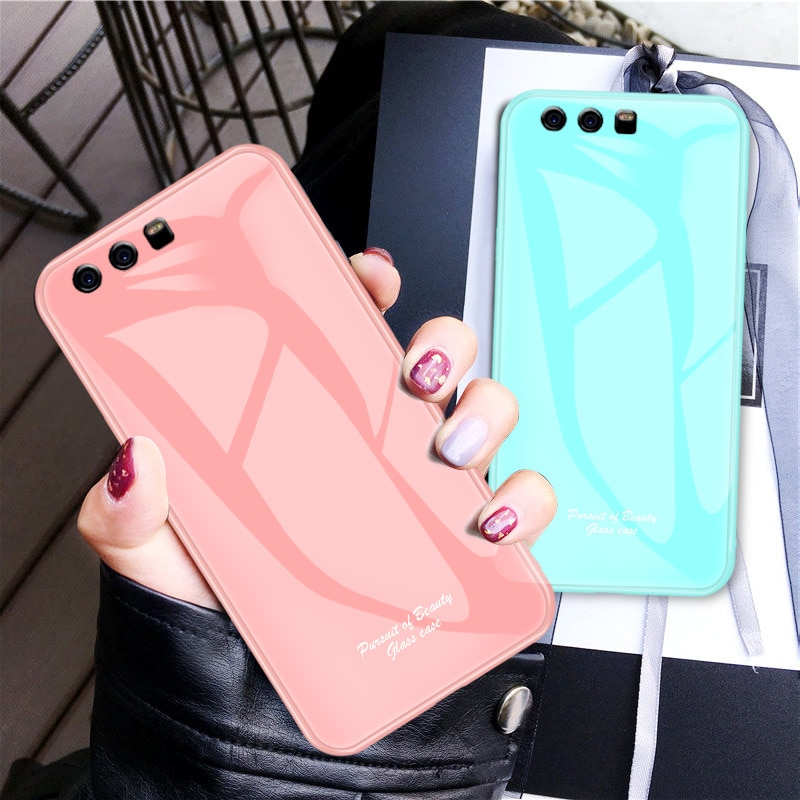 Para Huawei P10 funda Linda Macaron vidrio templado a prueba de golpes para Huawei P20 Pro Lite P 20 Plus funda de teléfono