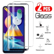 2 PCS Protective glass For Samsung M11 M21 M31 M30S 2020 M40 M10S Screen Protector Tempered Glass Fo