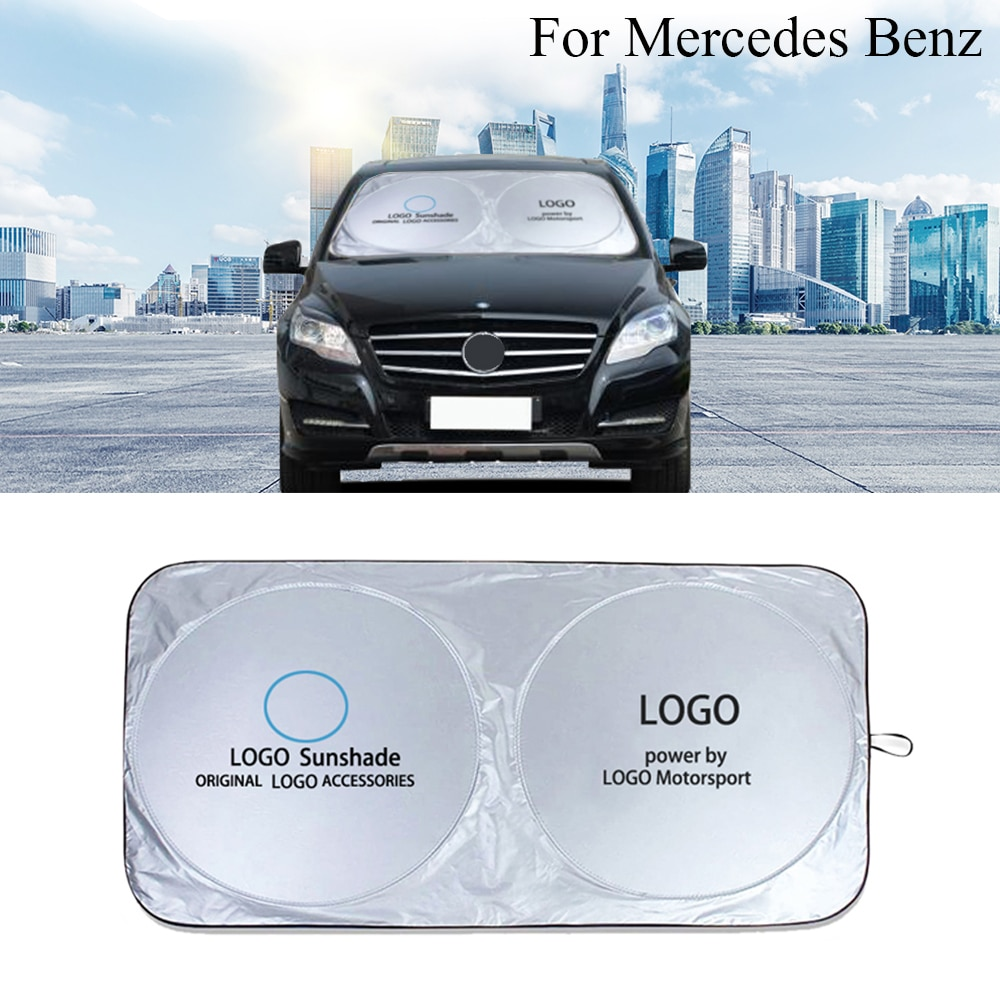 Collapsible Car Sunshade UV Protect Reflector Sun shade Window Film Windshield Visor Cover for Mercedes Benz AMG CLA GLA CLK CLS