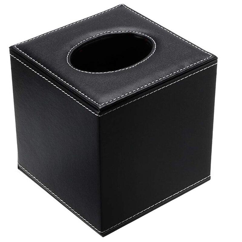 Soporte de caja para pañuelos de papel moderna, dispensador de caja de succión de soporte cuadrado, soporte de papel facial, con fondo magnético, adecuado para el hogar