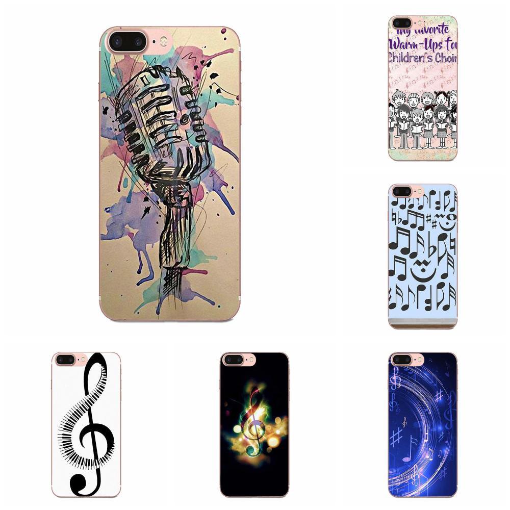 Note musicali Violino Classico Per Xiaomi CC9 CC9E Mi 3 4 4i 5 5S 6 6X 8 9 SE gioco Più Pro Lite A1 Della Miscela 2 Nota 3 Di Silice Morbido