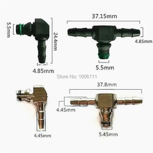 Reflux dhuile de retour pour BOSCH 110, pièces pour Diesel CR, pièces T et L, injecteur de carburant en plastique 3 Joint bidirectionnel 5 pièces