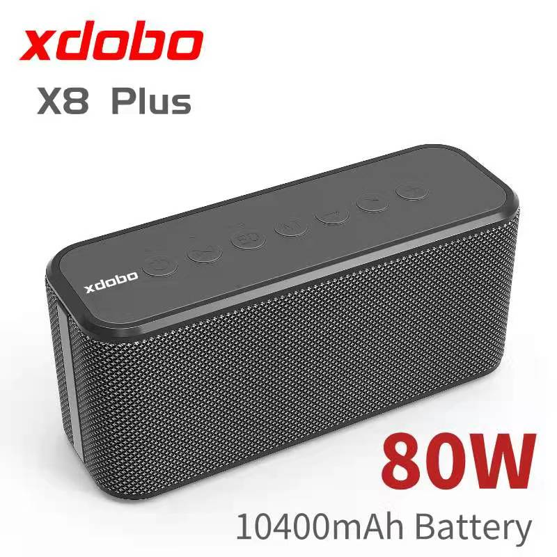 80W high-power portable bluetooth speaker XDOBO X8 Plus wireless deep bass sound column TWS subwoofer music center Boombox Sound