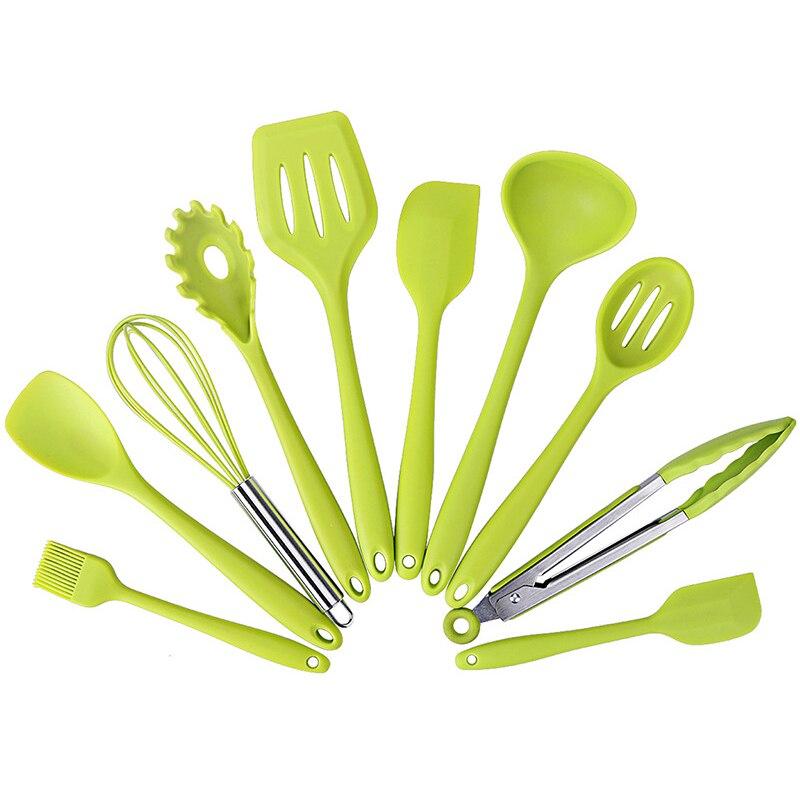 أداة مطبخ من 10 قطع من الكاشطات غير لاصقة على شكل ملعقة قاعدة الملاعق أدوات المطبخ أدوات المطبخ أدوات المطبخ ملحقات