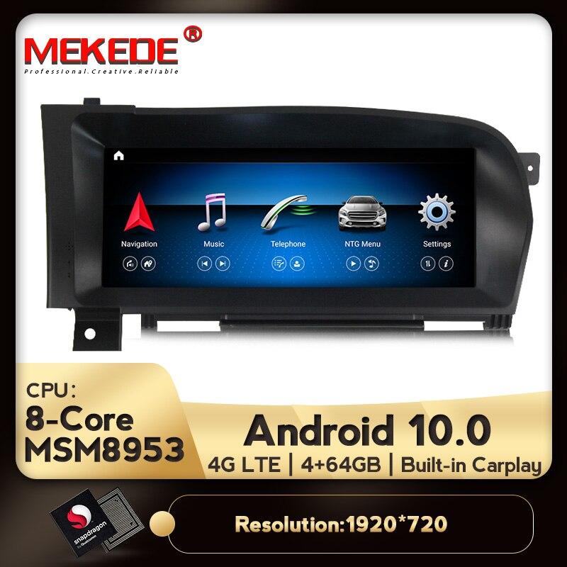 Radio de coche MEKEDE 10,25 pulgadas Android 10,0, navegación GPS automática para Mercedes Benz Clase S W221 W216, reproductor Multimedia de Dvd para coche 4G
