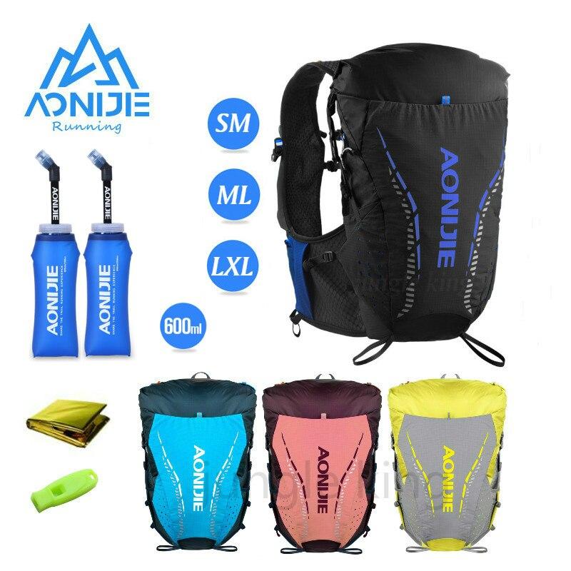 AONIJIE NweC9104 ультра жилет 18L гидратации рюкзак сумка мягкий воды пузырь колба для пеших прогулок бега марафона гонки SM ML XL