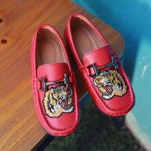 Zapatos de chicos populares 2020, zapatos planos para niñas rojos, zapatos casuales para primavera y otoño, mocasines para niños, mocasines de cuero suave de marca de lujo para niños