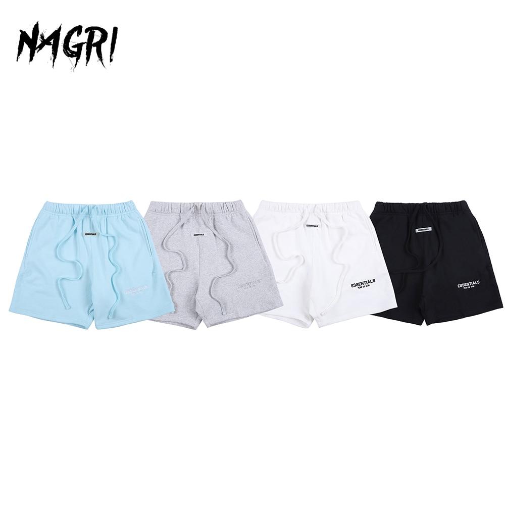 Pantalones cortos informales de algodón liso para hombre, pantalones cortos elásticos para correr, deportes de verano, Essentials FG con letras impresas para hombre
