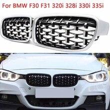 Accessoires de rechange pour BMW série 3 F30   Modèle 2013 2014 2015 2016 2017 2018, calandre avant de rein, nouveau météor brillant Chrome