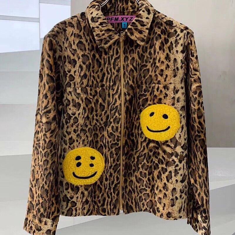 K 2020 nueva chaqueta de trabajo CPFM.XYZ Leopard Zip hombres mujeres 11 Otoño Invierno G Kanye West CPFM.XYZ W.C.D. Chaquetas abrigos