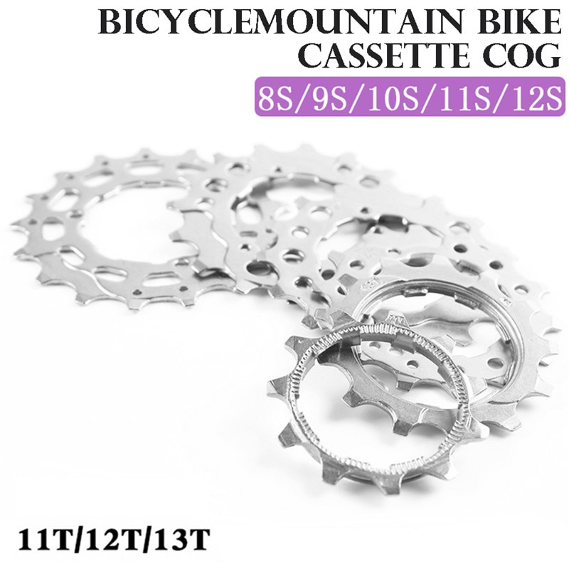 1PC MTB Road Bike Freewheel Cog 8 9 10 11 12 Speed 11T 12T 13T Bicycle Cassette Sprockets Mountain Bike Bicycle Accessories