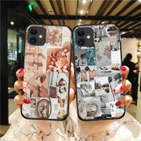 aesthetic collage phone case for iphone 5 5s se 6 6s 7 8 plus x xr xs 11 12 mini pro max cover fundas coque