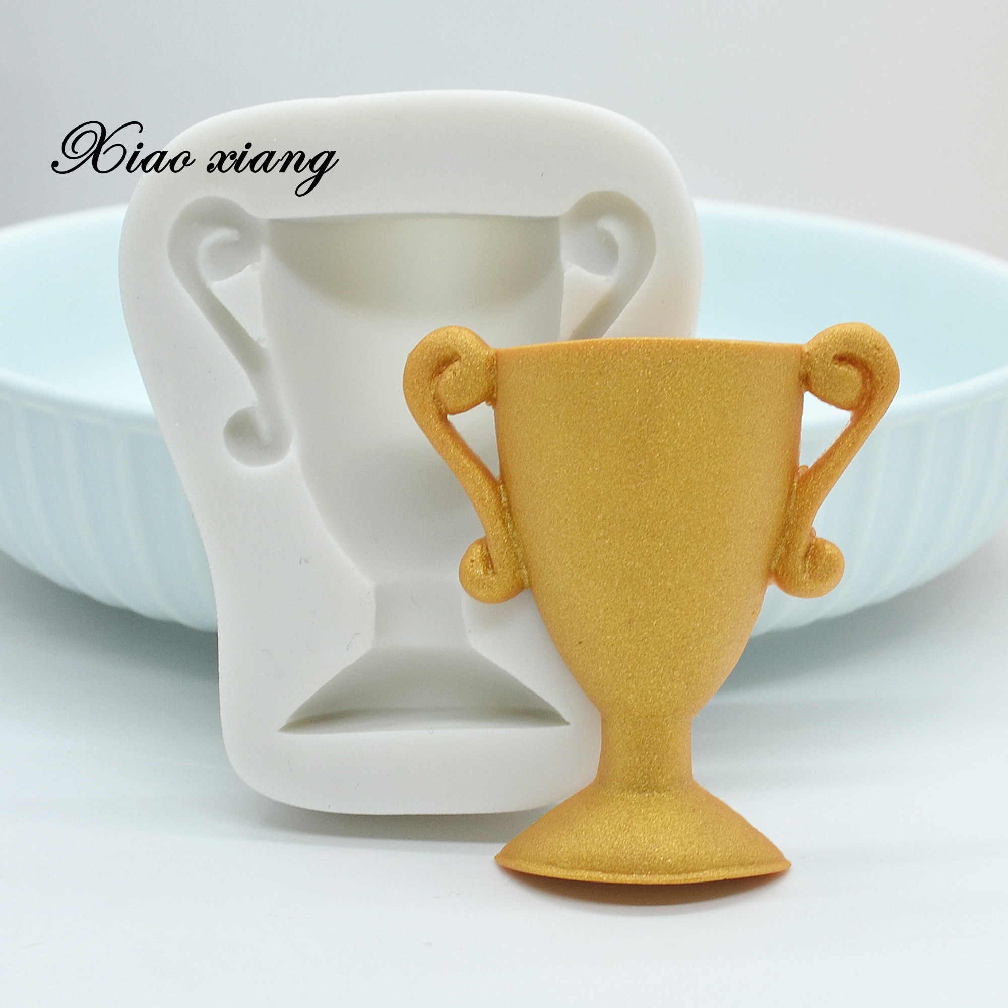 aliexpress.com - XiaoXiang Championship Trophy Fondant Silicone Molds Wedding Cake Decorating Tools Chocolate Molds For Baking Resin Molds M2031