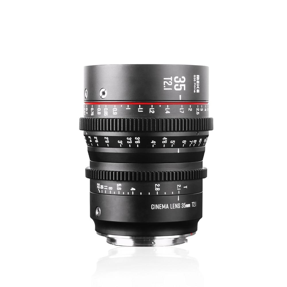Meike 35 مللي متر T2.1 S35 تركيز يدوي زاوية واسعة سينما عدسات لكاميرات كانون EF Mount وكاميرات الفيديو EOS C100 Mark II, EOS C200, EOS C700