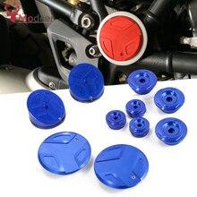 Pour BMW R1200GS LC 2013-2019 R1250 GS/Aventure, CNC Moto Cadre Trou Bouchons Bouchon Cadre Décoratif Bouchon Ensemble Accessoires