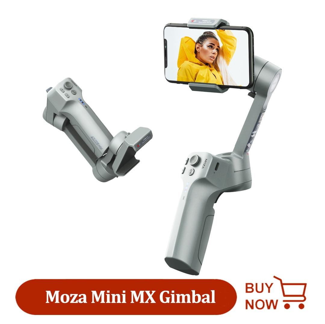 Moza Mini MX 3-Achse Handheld Smartphone Gimbal Faltbare Tasche-Größe Stabilisator für Handys iPhone 11 XS Huawei xiaomi Samsung