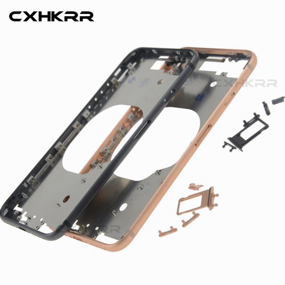 Moldura original quadro do chassi para iphone 8g 8 p x xr xs volta habitação quadro médio com botões laterais conjunto peça de substituição