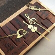 Nouveau Kawaii mignon or Instruments de musique en métal livre marqueurs signet pour livres trombones bureau fournitures scolaires papeterie