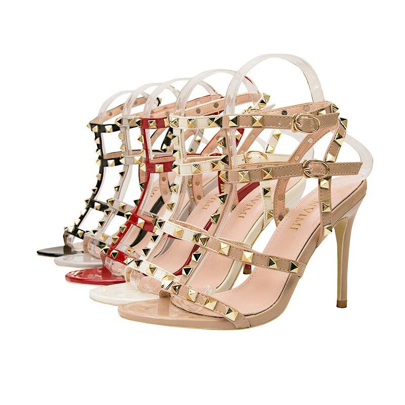 AliExpress - Summer Casual Retro Ladies Sexy Fashion High Heels Metal Rivets Ladies Sexy Luxury Non-slip Sandals Roman Shoes Women Sandals