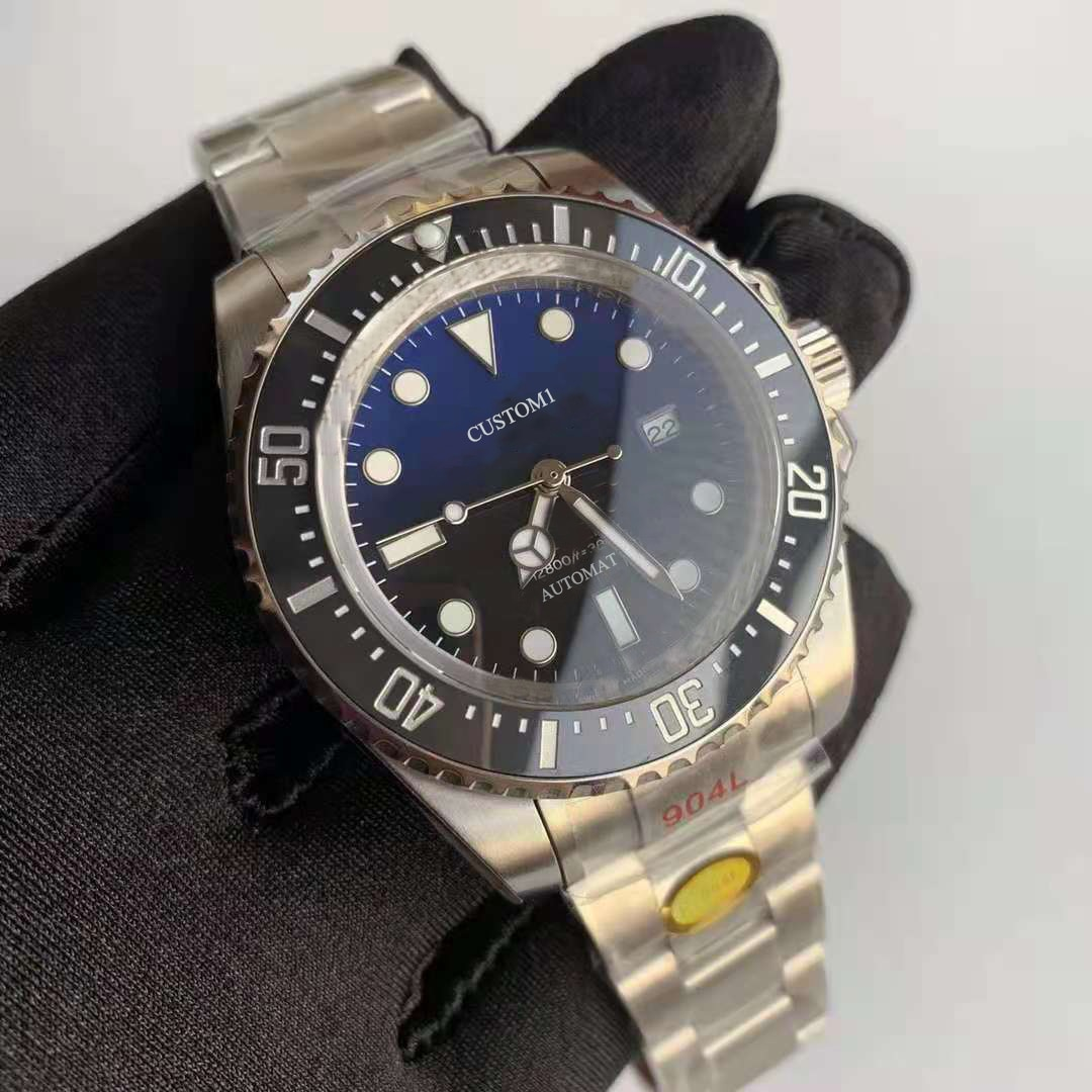 Men's Watch Automatic Mechanical MIYOTA8215 Black Dial Waterproof 904 Stainless Steel Strap Diving W