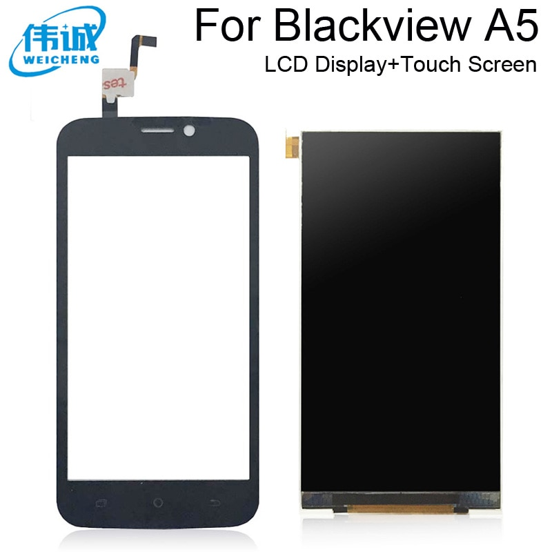 WEICHENG alta calidad 4,5 pulgadas para Blackview A5 pantalla LCD + digitalizador de pantalla táctil piezas de repuesto para A5 LCD Pantall tactil + herramientas