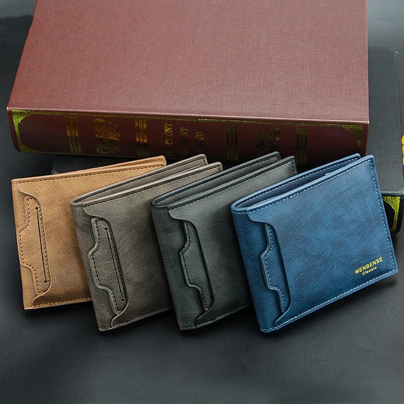Men Wallet Purse Money Bag Fashion PU Soft Leather Male Mini Wallet Card Holder Hasp Coin Pocket Sli