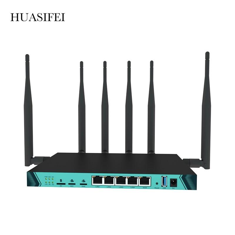 openwrt wifi router gigabit support vpn pptp l2tp 1200mbps 2 4ghz 5ghz usb 3 0 port 3g 4g router with sim card slot access point 1200Mbps Gigabit Dual Sim 4G Bonding WIFI Router 5.8G Dual Dand with SIM Card Slot Access Point Network WiFi Router Expander