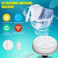 Портативная Ультразвуковая мини-стиральная машина с турбо-питанием от USB, удаляет грязь, мойка одежды, стиральная машина для путешествий, до...