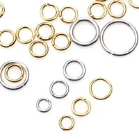 stainless steel open jump ring gold and silver split connector 46810 mm suitable for diy necklace jewelry making
