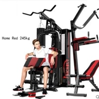 2021 home multifunctional large scale combined fitness equipment three person station comprehensive training device