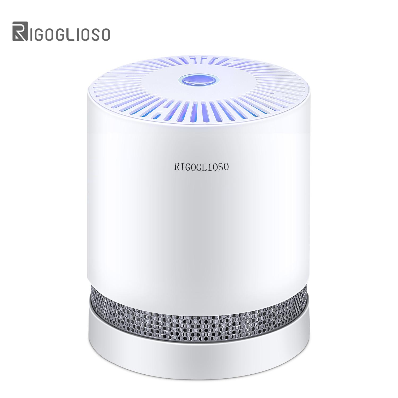 Очиститель воздуха RIGOGLIOSO для дома, Фильтры HEPA, компактные настольные очистители, фильтрация с ночным освещением, очиститель воздуха GL2109