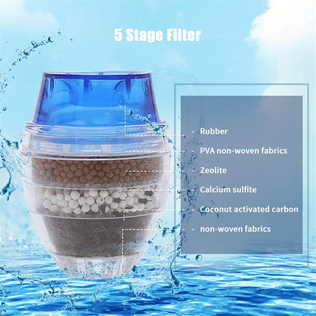 Faucet Water Filter Purifier Kitchen Faucet Filtration Activated Carbon Removes Heavy Metal Thinner Water Softener Cartridge