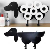 k1ka black dog kitty toilet paper holder standing wall mount tissue roll storage rack
