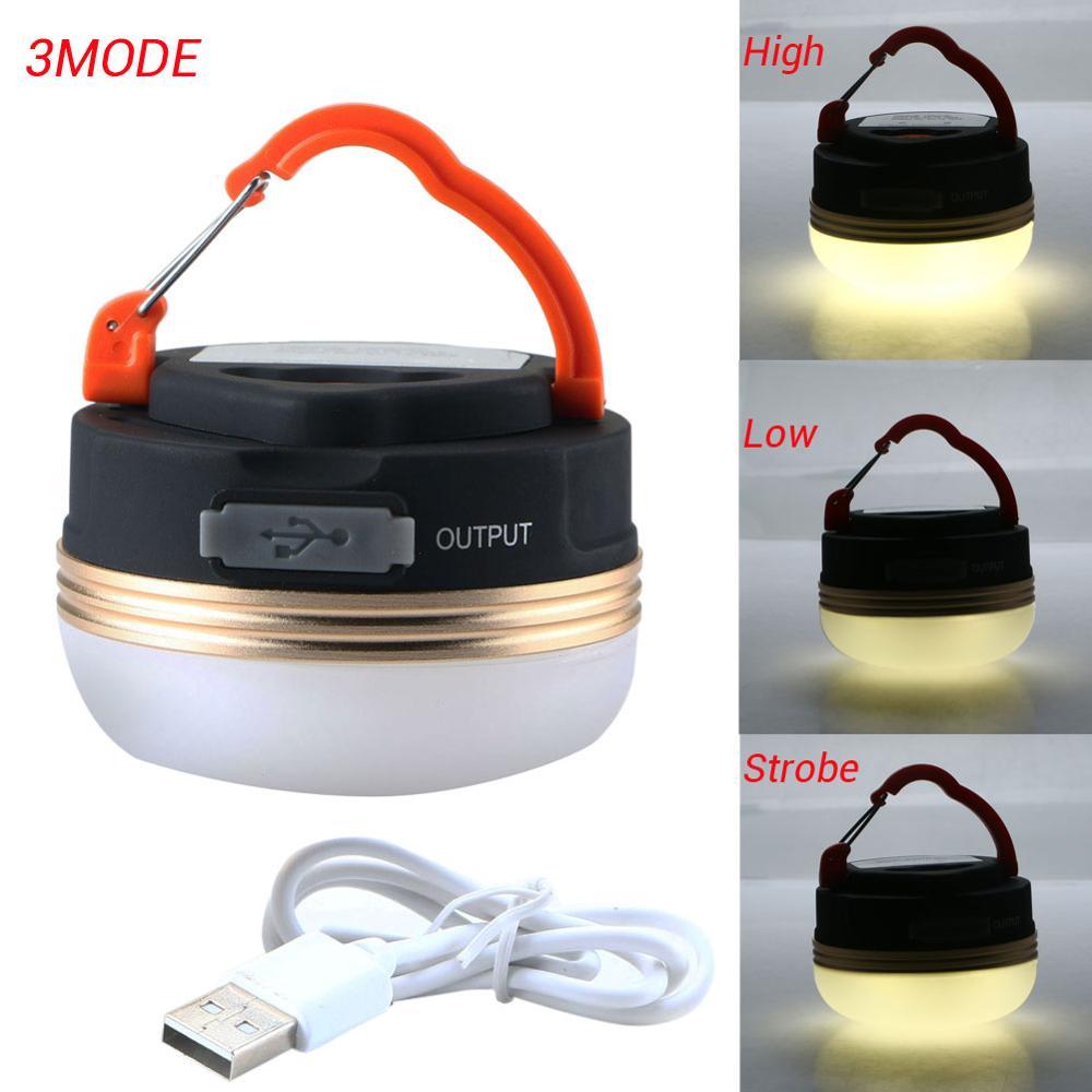 Lámpara LED portátil dorada para tienda de campaña, linterna recargable por USB, 300LM3W, lámpara LED magnética, luz LED de exterior, linterna Flexible para tienda