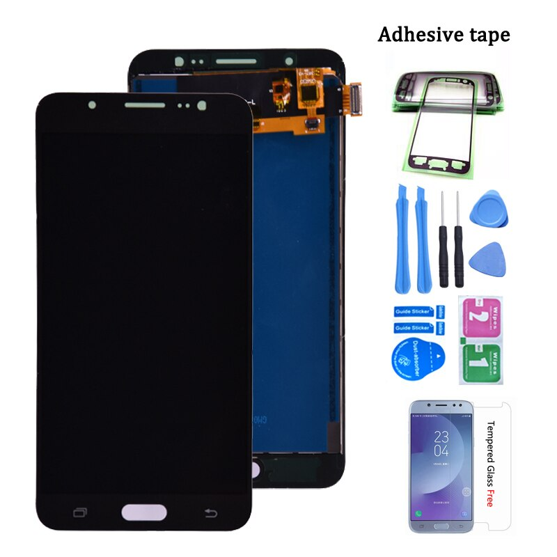 Para Samsung Galaxy J7 2016 J710 LCD pantalla táctil digitalizador montaje SM-J710F J710M J710H J710FN LCD Ajustar brillo