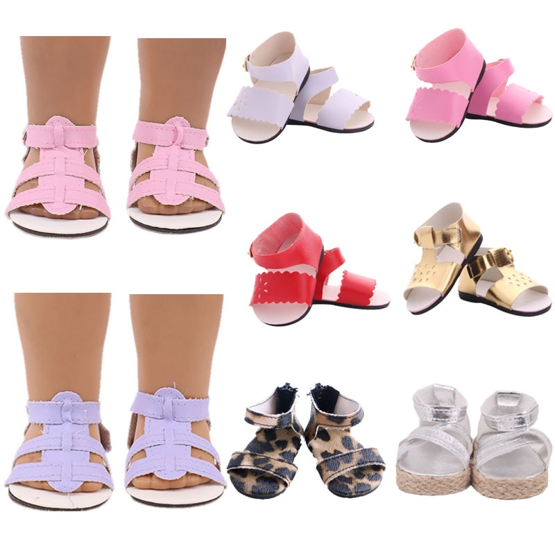 7Cm Doll Shoes Sandals Boots Baby Shoes For 43Cm Baby New Born Reborn Doll&18 Inch American Girl` For Our Generation Girl`s Toy недорого